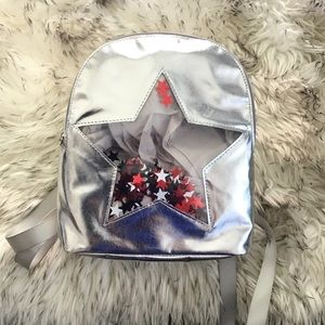 Kids Silver Backpack small